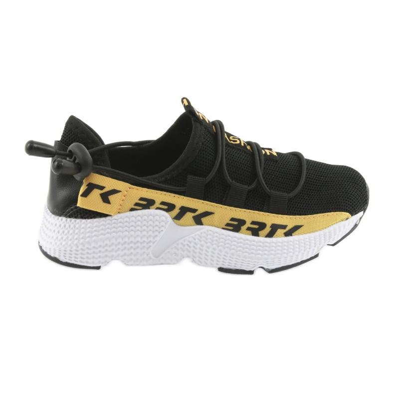 Pantofi sport Bartek negru 55109 piele branțată
