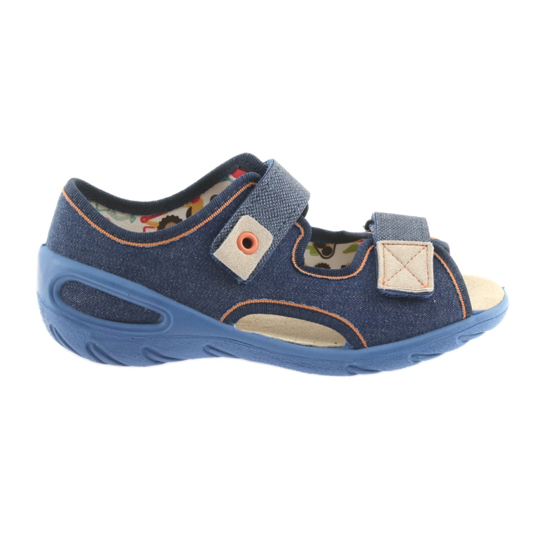 Pantofi pentru copii Befado pu 065X126 maro albastru marin