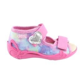 Pantofi pentru copii Befado 342P005 curcubeu albastru gri galben roz