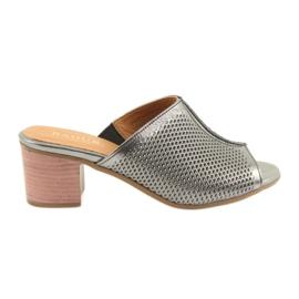 Papuci de argint pentru femei Badura 5311 gri