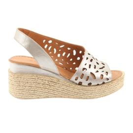 Sandale pe picior Badura 4722 cappuccino maro