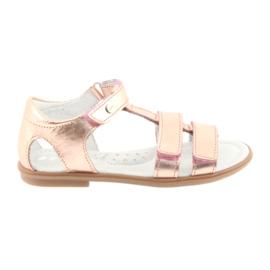 Sandale pentru fete, auriu roz, Bartek 56016