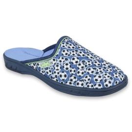 Pantofi pentru copii Befado colorate 707Y399 alb negru albastru