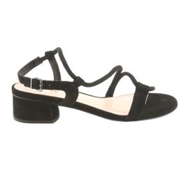Sandale negre tocuri inalte Edeo 3386 negru