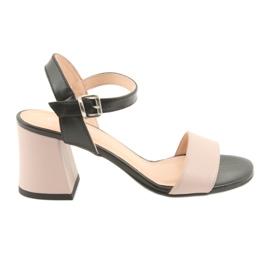 Sandale pentru femei Edeo 3339 pulbere / negru