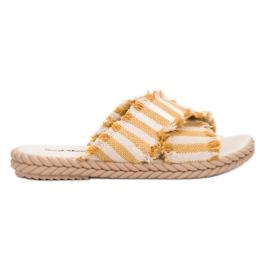 Seastar galben Papuci cu curele