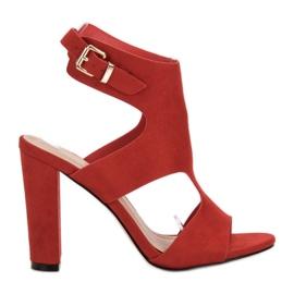 Ideal Shoes roșu Sexy tocuri înalte