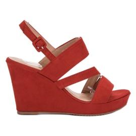 SHELOVET roșu Sandale pe Wedge