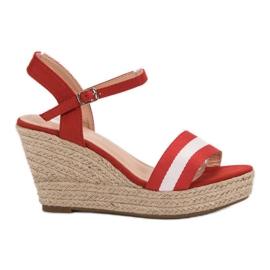 Primavera roșu Casale sandale cu pană