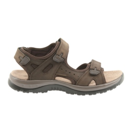 Maro Sandale DK Brown Velcro ușor EVA
