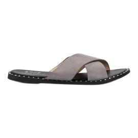 Small Swan Pantofi din piele gri