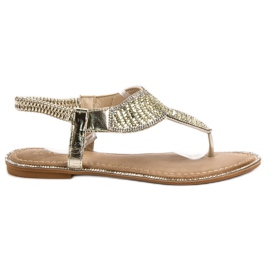 Encor galben Sandale japoneze elegante
