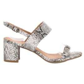 Ideal Shoes gri Sandale la modă pentru femei