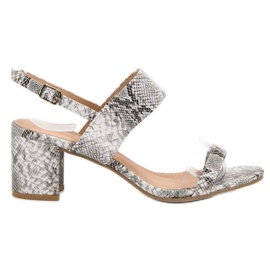 Ideal Shoes Sandale la modă pentru femei gri