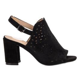 SHELOVET negru Sandale pentru sandale