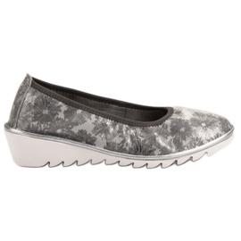 Filippo Lumină gri pantofi de piele de balet