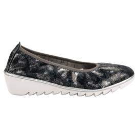 Filippo Navy Pantofi din piele pentru balet albastru