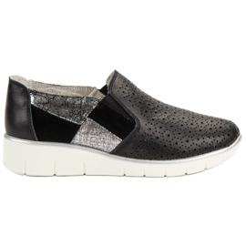 Filippo negru Pantofi negri Slip On