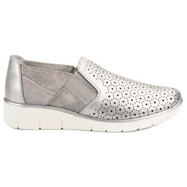 Filippo gri Suport de argint Pe pantofi