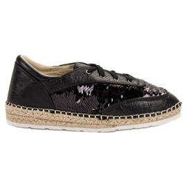 Pantofi cu paiete VICES negru