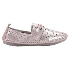 Pantofi din piele VINCEZA roz