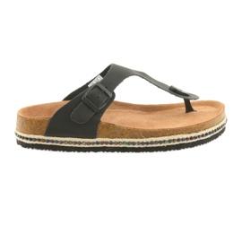 Flip-flop pentru femei Big Star 274132 negru