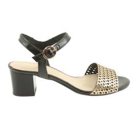 Espinto Sandale pe postul negru / aur