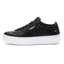 Negru Puma Vikky Stacked Laser Cut 369378 01 pantofi