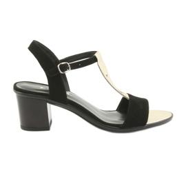 Sandale pentru femei Anabelle 1447 negru / aur