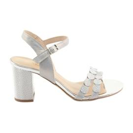 Femeile sandale argintii Gamis 3658