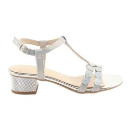 Sandale pentru femei dungi Gamis 3661 gri perla