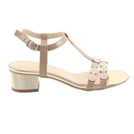 Sandale pentru femei dungi Gamis 3661 bej