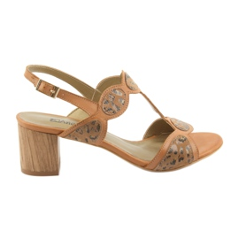 Femeile de sandale de caramel / panter Anabelle 1352 maro