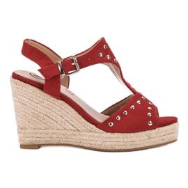 Kylie roșu Sandale cu jeturi