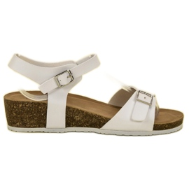 Seastar Sandale de tip wedge clasic alb