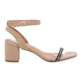 Ideal Shoes maro Sandale elegant Suede