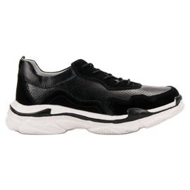 Goodin negru Pantofi din piele neagră