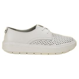 Goodin alb Pantofi din piele ușoară