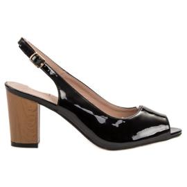 Goodin negru Lacate sandale pentru femei