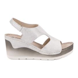 Goodin alb Sandale comfortabile