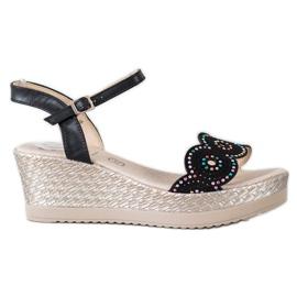 Kylie negru Sandalete casual