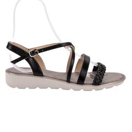 Kylie negru Sandale negre pe platformă