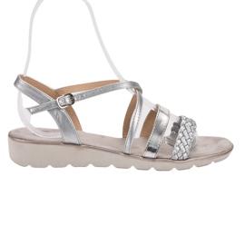 Kylie gri Sandale de argint pe platformă