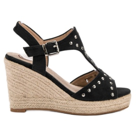 Kylie negru Sandale cu jeturi