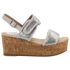 Kylie Sandale cu Velcro gri