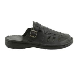 Naszbut negru Papuci pentru bărbați 047 negri