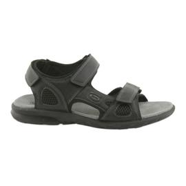 American Club negru Sandale sport americane HL06 negre
