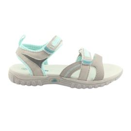 Sandale pentru fete American Club HL14 gri / menta
