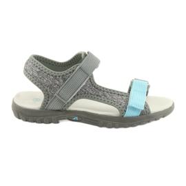 Sandale cu inserție din piele American Club RL10 gri / albastru