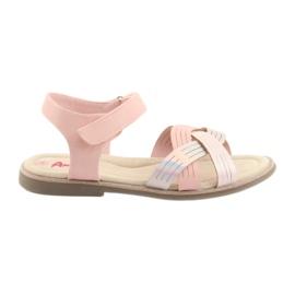 Sandale metalice fete American Club GC23 roz